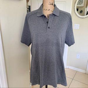 Lululemon men's buttoned polo shirt sz L